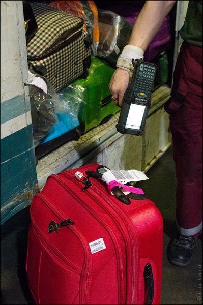 Сканирование багажной бирки маркированного багажа