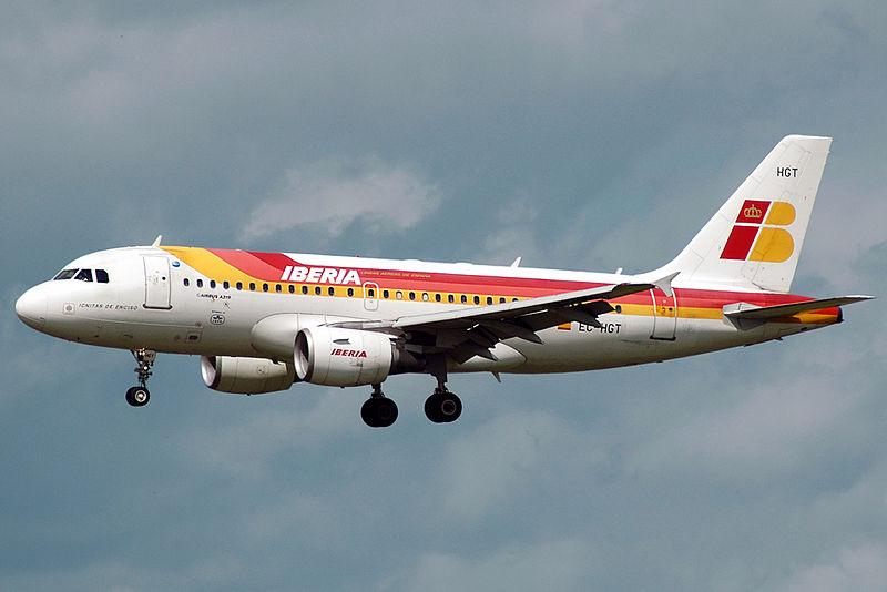 Самолет авиакомпании Иберия
