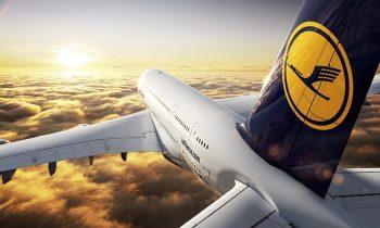Самолет с эмблемой Люфтганза
