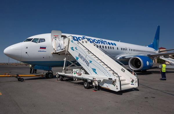 Подготовка самолета к рейсу в Волгоград