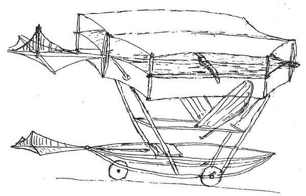 Зарисовки летательного аппарата Кейли