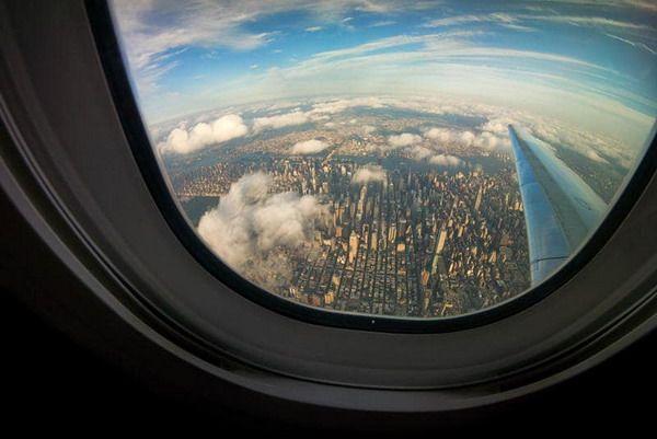 Вид из окна при полете