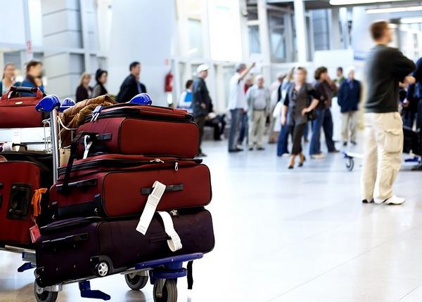 Подготовленный к погрузке багаж