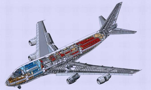 Фюзеляж пассажирского самолёта