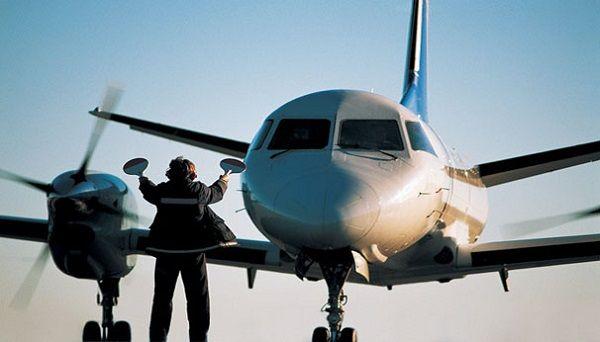 Осуществление посадки самолета на посадочную полосу