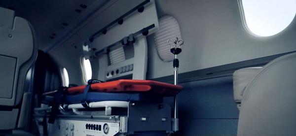 В салоне санитарной авиации