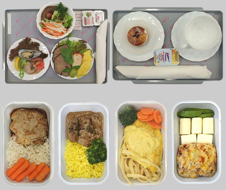 Примерный рацион обеда бизнес-класса