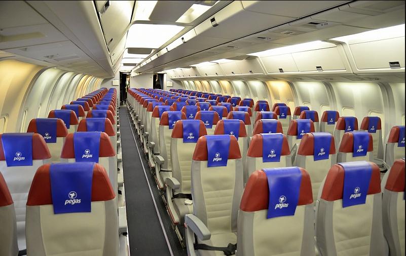 Салон самолета компании