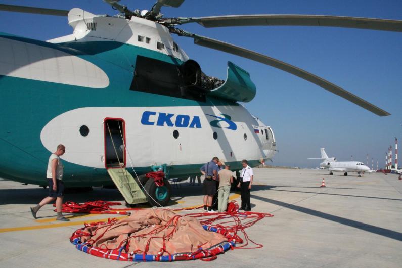 СКОЛ участвует в ликвидации лесных пожаров. Греция, 2007 год