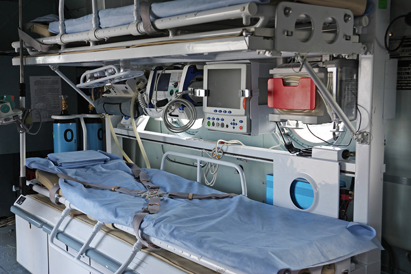Ми-8 оснащен мобильным медицинским модулем