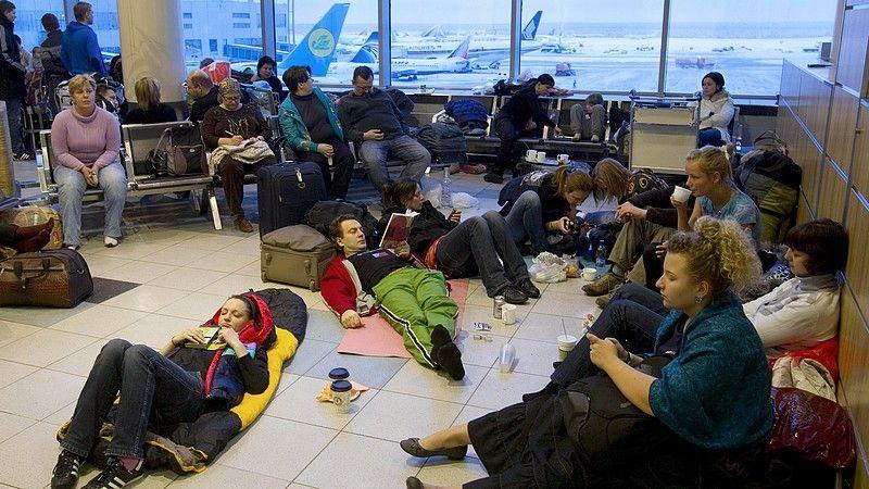 Задержка рейса в аэропорту