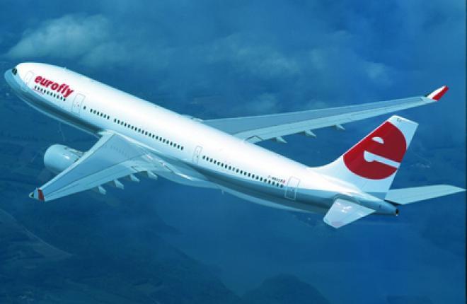 Самолет Airbus A330 компании «Меридиана Флай»