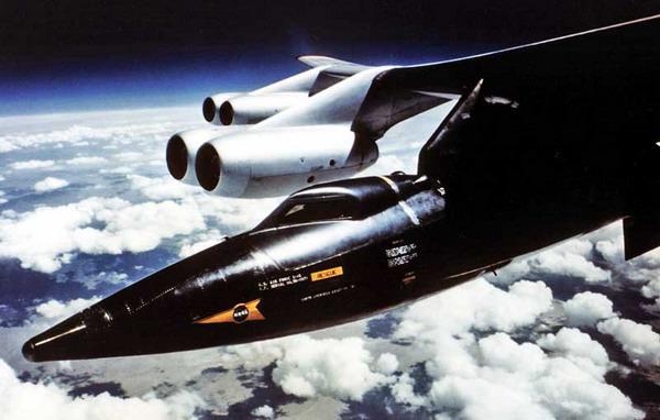 Самый быстрый пилотник North American X-15