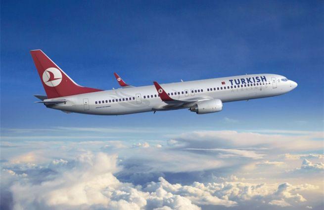 Самолет турецкой компании