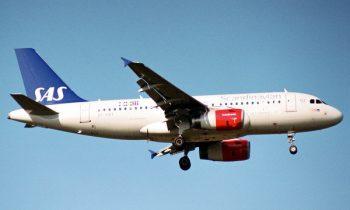 Самолет авиакомпании SAS