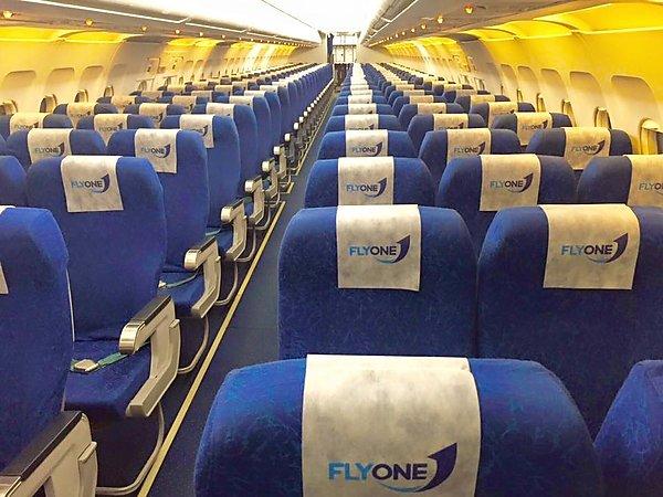 Как выглядит салон самолета авиакомпании FlyOne
