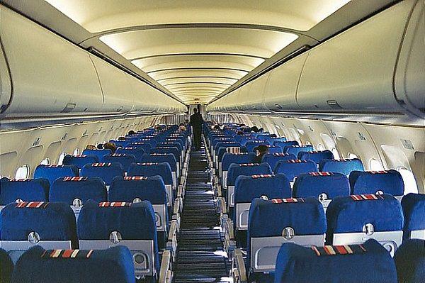 Салон самолета Airbus 320