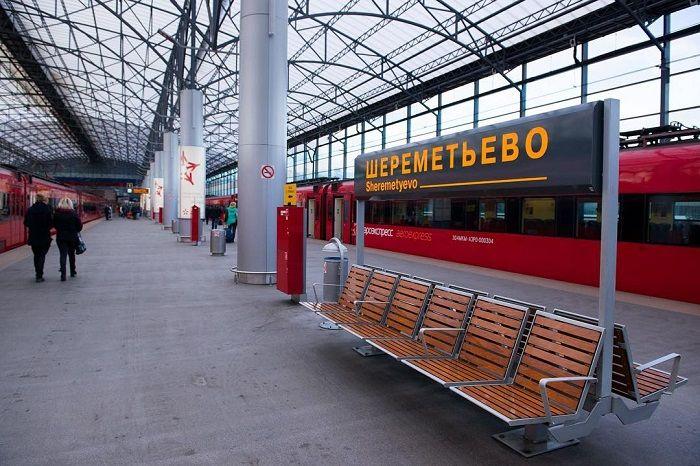 Внешний вид станции, откуда отправляется Аэроэкспресс из аэропорта Шереметьево