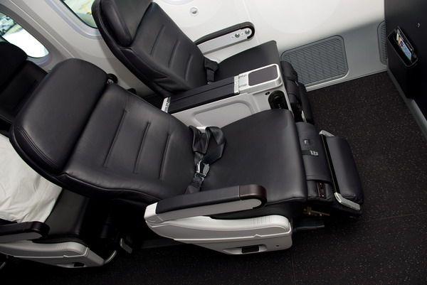 Регулирующиеся сиденья на борту самолетов AirNewZealand