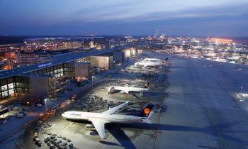 Аэропорт Франкфукта-на-Майне поражает своим великолепием даже ночью