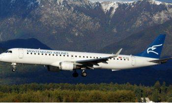 Полет на самолете «Монтенегро» выше гор Черногории