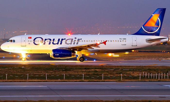 Самолёт авиакомпании «Onur Air» «Airbus» А320