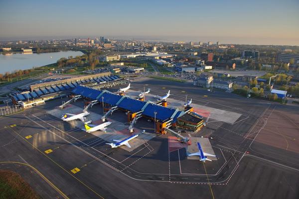 Аэропорт Таллина с высоты птичьего полёта
