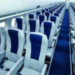 Ряды посадочных мест в самолете