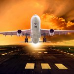 Взлёт пассажирского самолёта