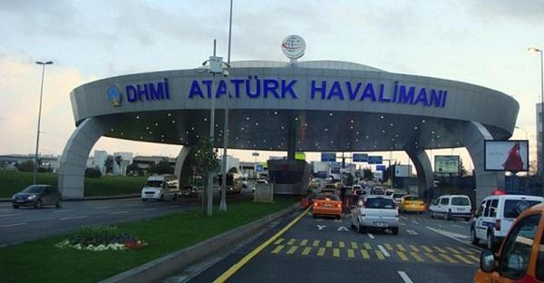 Въезд в аэропорт Ататюрк