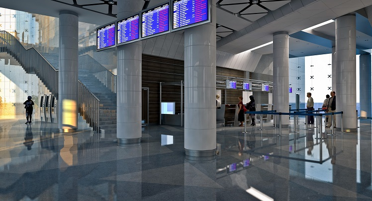Внутри белгородского аэропорта