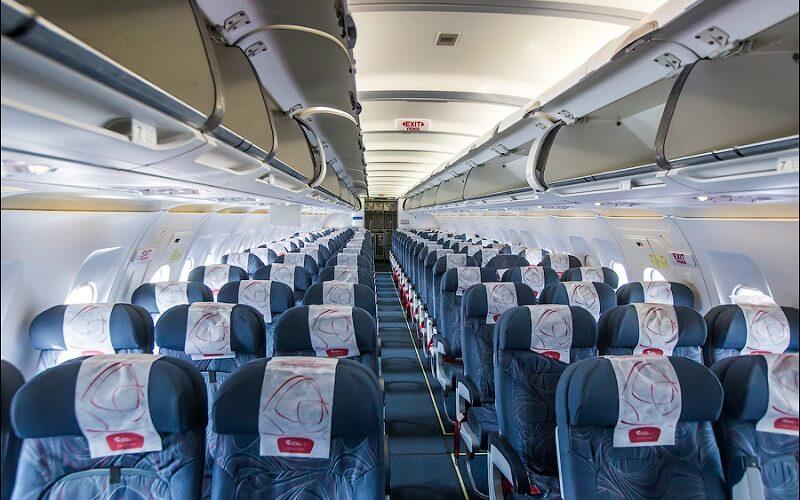 Салон самолета авиакомпании ЧСА