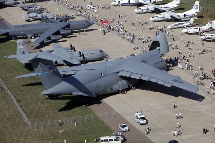 Проведение авиасалона на аэродроме Раменское