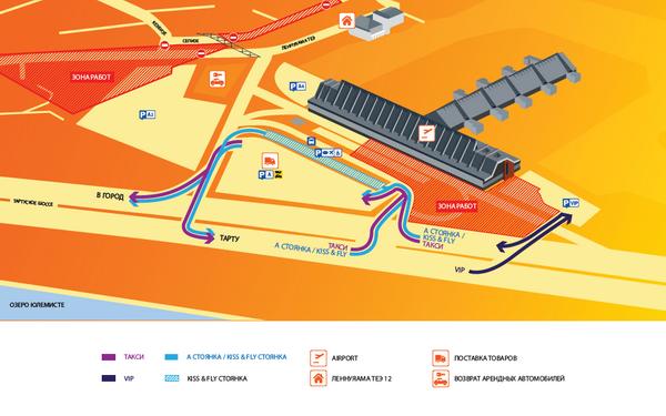 Общая схема парковки и движения в аэропорту