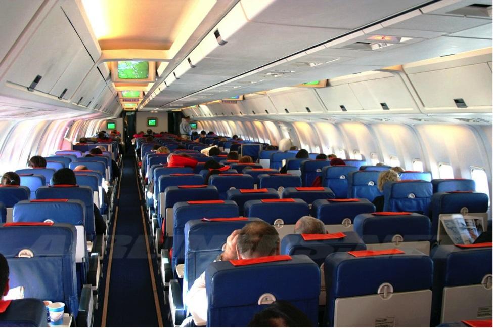 Размещение пассажиров в салоне самолета чартера