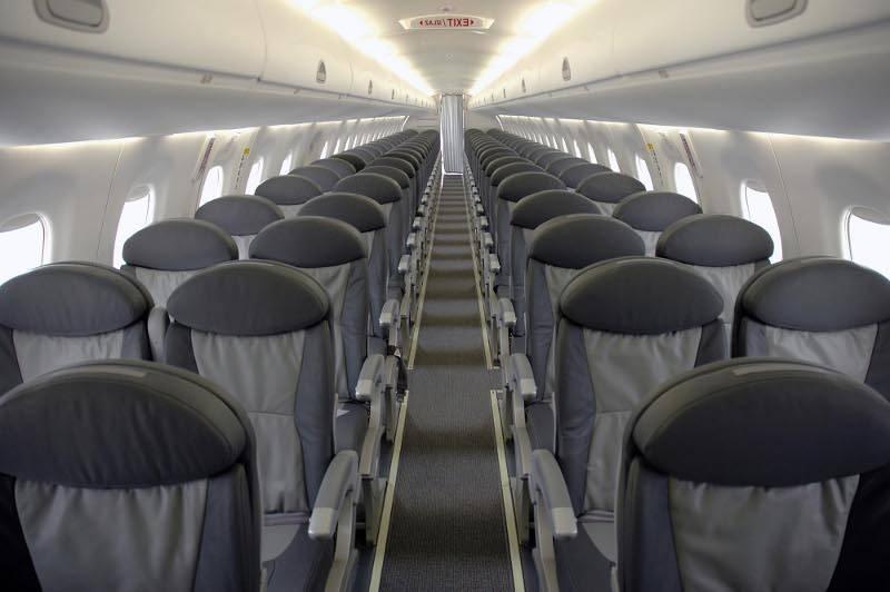 Салон в самолете Фоккер