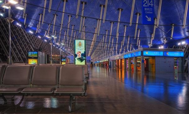 Внутри аэропорта Пудун
