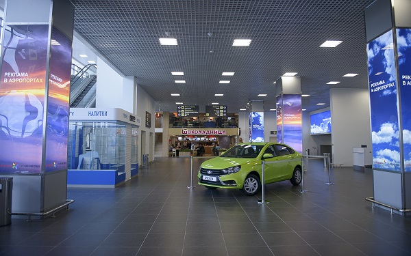 Терминал аэропорта Раменское внутри