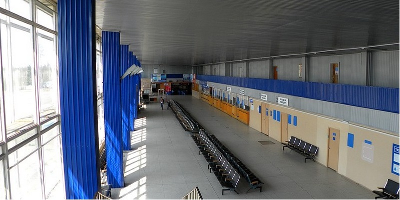 Внутреннее расположение аэровокзала