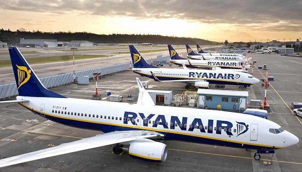 Самолеты Ryanair в аэропорту Бергамо