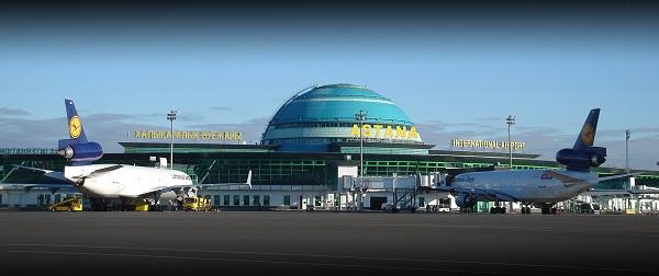 Главный вид аэропорта Астана
