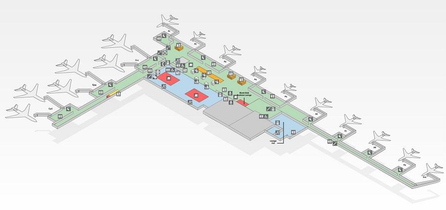 Схема аэропорта Никола Тесла