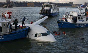 Аварийная посадка самолета на воду