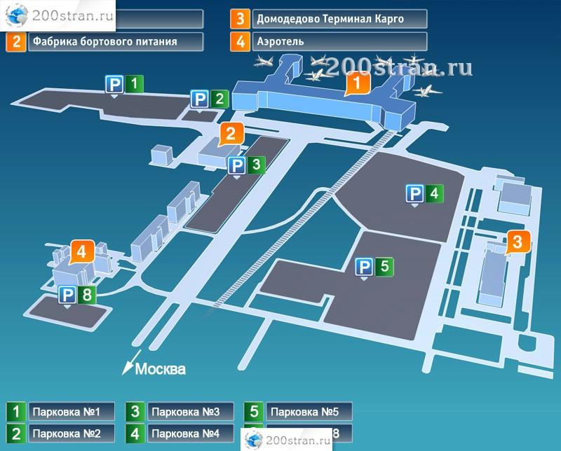 Схема парковок в аэропорту