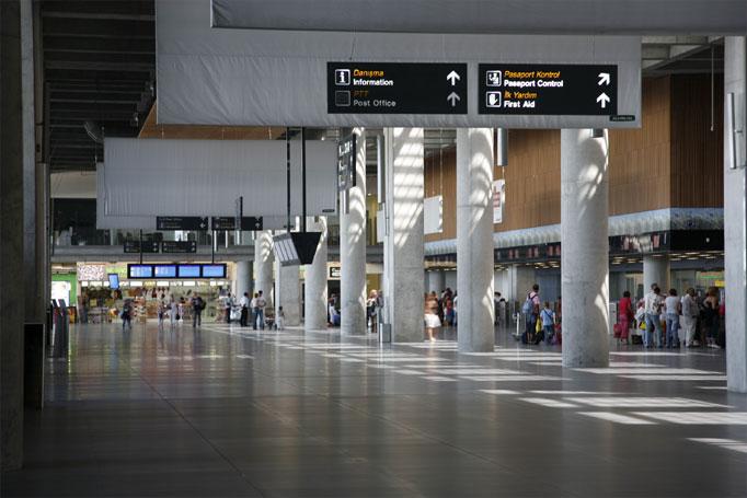 Как выглядит здание аэропорта внутри