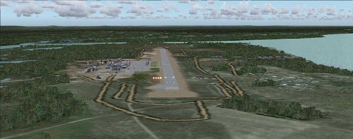 Вид на аэропорт с воздуха