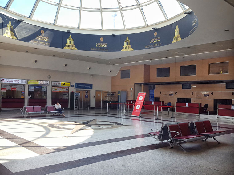 Аэропорт Батуми Чорох, вид изнутри