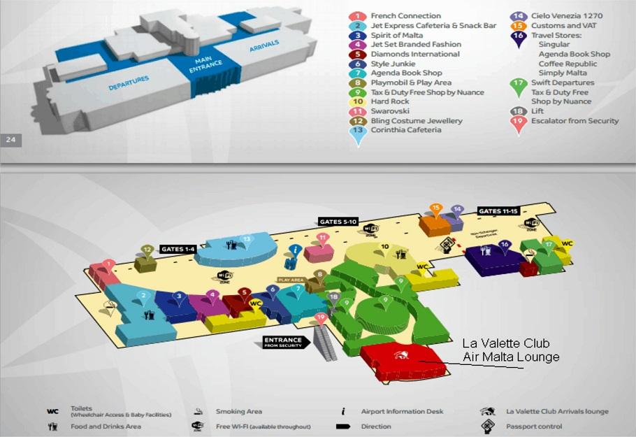 Схема аэропорта Лука