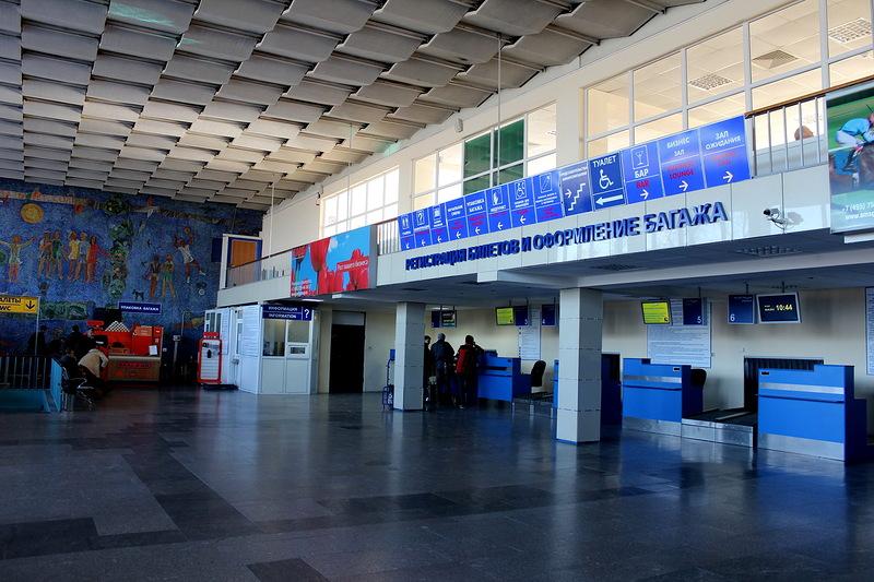 Старый терминал внутри