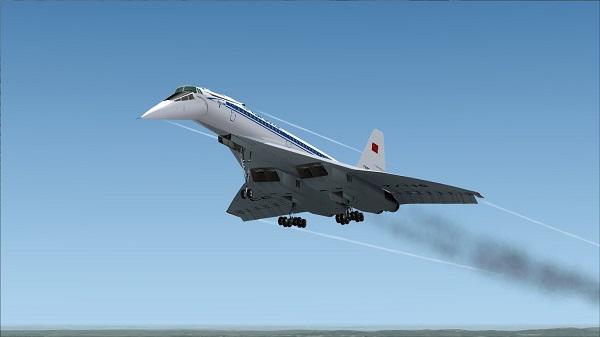 Советский Ту-144 на взлете